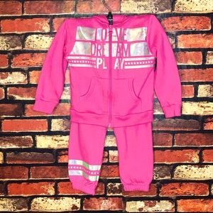 2T Healthtex Pink Sweats Set